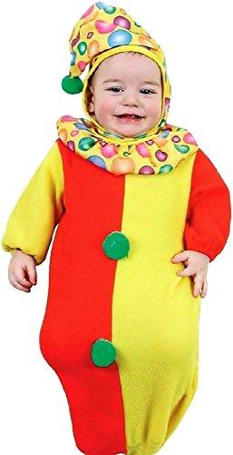 0/9 maanden - kostuum - vermomming - carnaval - halloween - clown - circus - veelkleurige kleur - unisex - kinderen baby's
