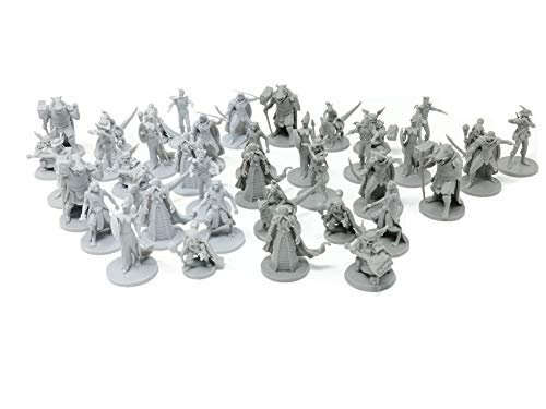 40 Fantasy Tabletop Miniatures for Dungeons and Dragons Miniatures....