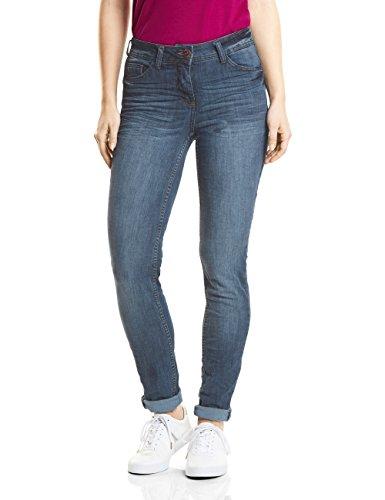 Cecil Damen 371345 Charlize Slim Jeans, Light Blue Used wash, W26/L32