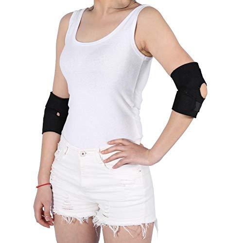 Självuppvärmande armbågsdyna turmalin armbågsstöd stöd hälsovård magnetisk behandling varmt armbåge elastiskt bälte hälso- och armbågsskydd