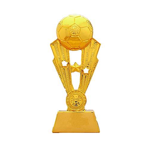 DYYPPWW Premios Deportivos FúTbol Copa Trofeo De CompeticióN,Resina,Fan Souvenirs Colecciones DecoracióN del Hogar Regalos,Oro