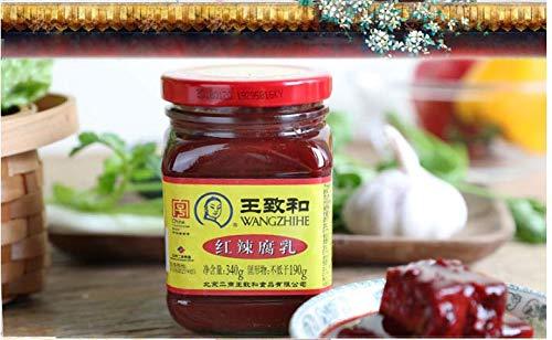 王致和 紅辣腐乳 発酵豆腐 辛口 激辛ラー油 340g