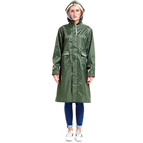 Mujin Regenjas, reflecterend, winddicht, lang, met dikke klep, wandelen, bergbeklimmen, dames, 3 kleuren