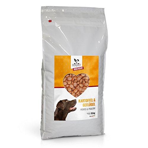 DOGS-HEART Geflügel & Kartoffel (15kg) Getreidefreies Hundefutter mit hohem Fleischanteil, Glutenfrei