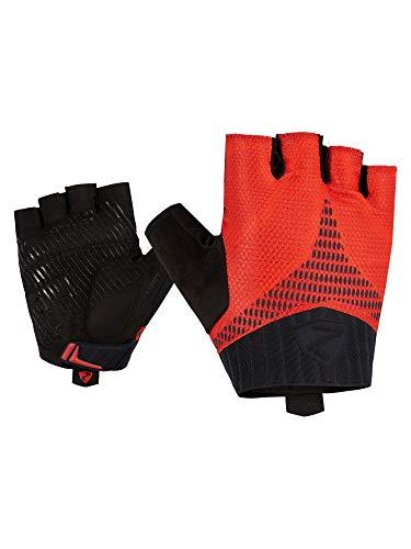 Ziener Ceco, guanti da ciclismo da uomo, traspiranti, ammortizzanti, antiscivolo, colore rosso, 8