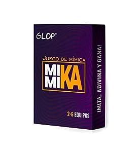 Glop Mimika - Juego de Mímica - Juegos de Mesa - Juegos de Mesa Adulto para Fiestas con Amigos - Juegos de Mesa Familiares - Regalos Originales para Hombre y Mujer