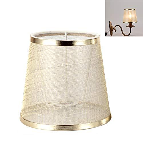 FJROnline Satz von 3 transparenten Lampenschirm, Kerzenleuchter Drop Light Lampenschirm passt für E14 und E27 Basis, weicher das Licht, 110 * 150 * 140mm (Golden)