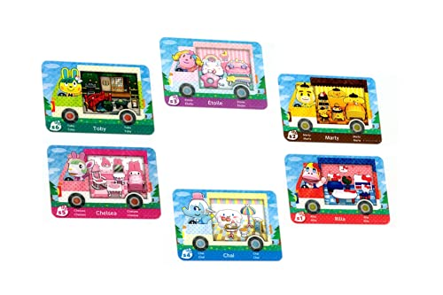 6 Pcs for Animal Crossing ACNH Sanrio Collaboration Pack Card RV Villager Furniture for New Horizons Compatible with Switch Normal Size