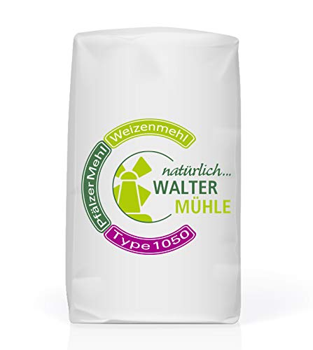 Weizenmehl unbehandelt | Type 1050 | Walter Mühle | 1kg (10 Pack) | Premium Bäckerqualität | Natur Pur