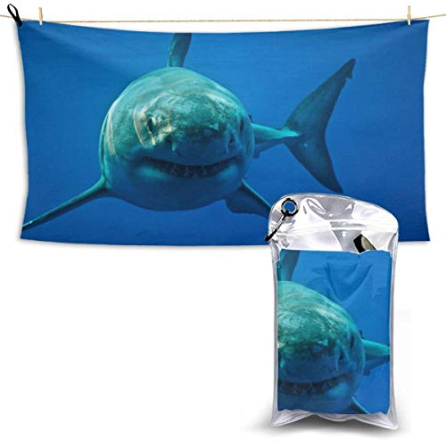 XCNGG Quick Dry Bath Towel, Absorbent Soft Beach Towels, Shark for Camping, Backpacking, Gym, Travelling, Swimming,Yoga 28.7'' X 51''