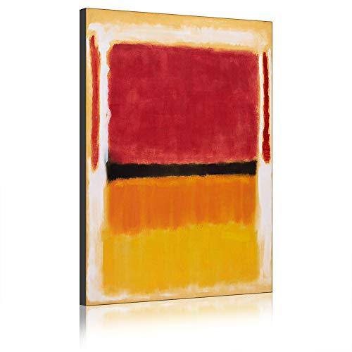 Leinwand Berühmte Gemälde Farbfeld Von Mark Rothko Moderne Wandkunst Kunstreproduktion Gedruckt Auf Leinwand Abstrakte Kunstwerke Für Hauptdekorationen (Mit Rahmen,40 x 60 cm)