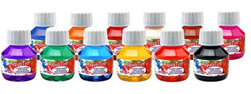 Aqua Tint 13 flüssige Wasserfarben 50ml