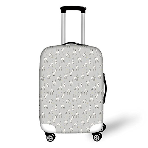 Travel Luggage Cover Suitcase Protector,Party Set Up on Black...