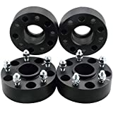 DCVAMOUS 5x5 Hubcentric Wheel Spacers Compatible with Jeep Wrangler JK, 4pc 2' Wheel Spacer with 1/2' Studs fit for JK JKU Wrangler(Not JL JLU), XK Commander, WJ WK Grand Cherokee
