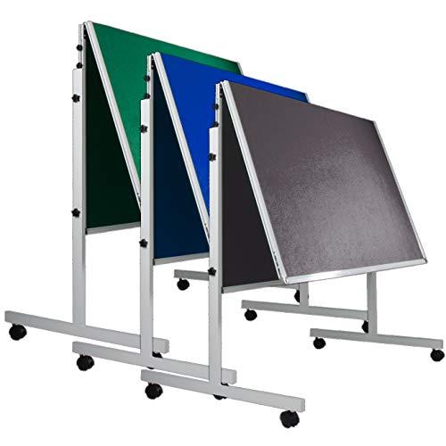 Moderationstafel Filz | klappbar | mit Rollen | 120x150cm | Farbe wählbar (blau)