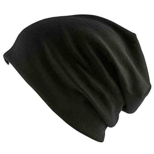 Oblique-Unique® Long Beanie XXL Mütze Slouch Trend Damen Herren (Black)