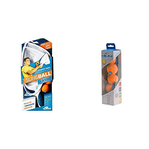 Blue Orange Djubi Classic - The Coolest New Twist on The Game of Catch!, Slingball Classic & Refill-Medium