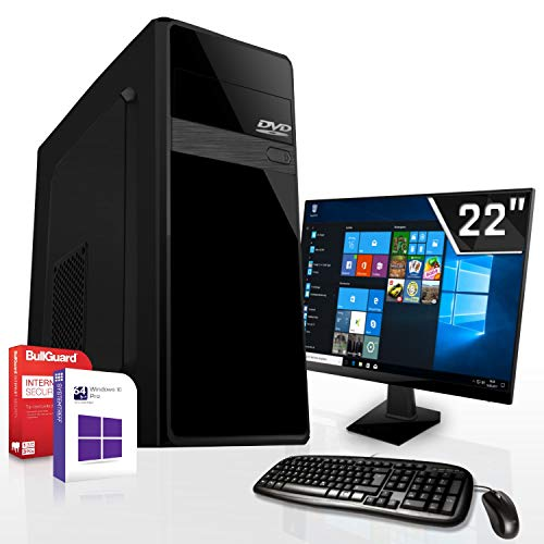 Komplett PC-Paket Set • AMD FX-8800 4X3.4GHz • 8GB DDR4 • 500GB HDD •Radeon DirectX 12 HDMI • WLAN • USB 3.1 • Win10 • 22 Zoll LED TFT Monitor • Computer
