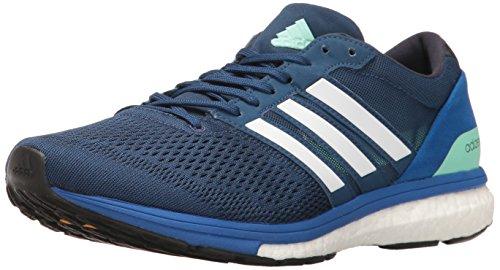 adidas Men's Adizero Boston 6 m Running Shoe, Mystery Blue/Dark...