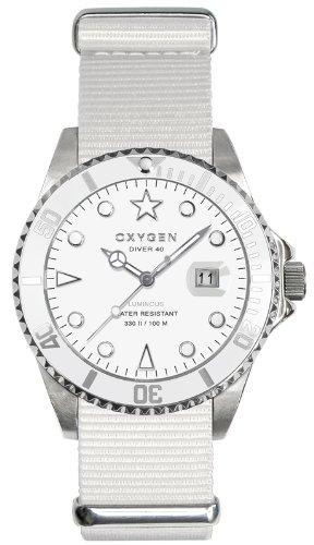 Oxygen Unisex-Armbanduhr White Bear 40 Analog Quarz Nylon EX-D-WHI-40-WH