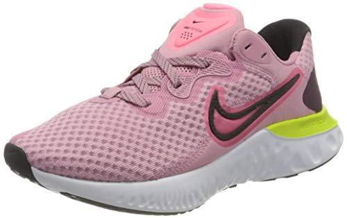 Nike Renew Run 2, Zapatos para Correr Mujer, Elemental Pink Sunset Pulse Black Cyber White, 42 EU