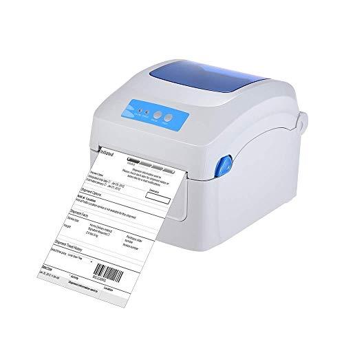 ALIZJJ Imprimante d'étiquettes, 8 pouces Imprimante thermique, Port USB commercial direct thermique haute vitesse étiqueteuse machine 1D 2D QR code à barres étiquette Adresse Impression rapide Vitesse