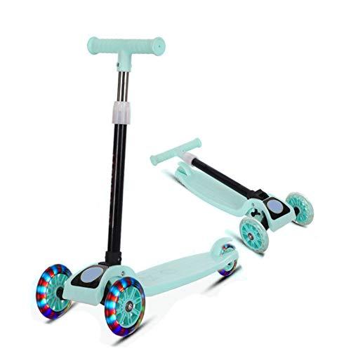YWJPJ. Scooter de Kick de 3 Ruedas para niños, Scooter Plegable de aleación de Aluminio con Ajustable y PU Rueda de luz para niña niño niños pequeños 2-8