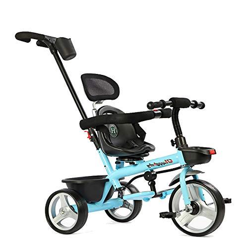 SSLC Kids Trike driewieler, 2-in-1 duwen langs Trike met ouderhandvat en kinderen driewieler veilig ontwerp - leeftijden 15 maanden+