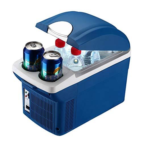 Ice Réfrigérateur de Voiture 8L Portable 12V24V220V avec rainure de Tasse d'eau Mini Petite Voiture Maison Utilisation extérieure congélateur réfrigérateur pour Voyager Camping , Bleu