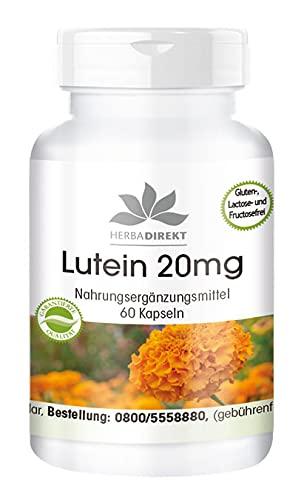 Lutein 20mg - mikroverkapselt - 60 Kapseln - vegan