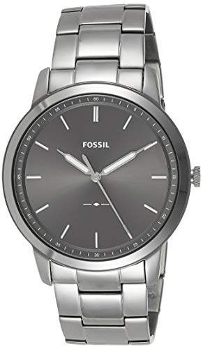 Fossil Men's The Minimalist 3H Quartz Stainless-Steel-Plated Strap, Grey, 22 Casual Watch (Model: FS5459)