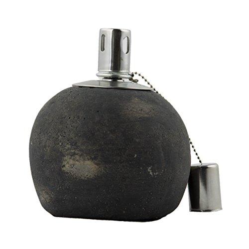 Jardinion Garten-Dekoration Zement Öl-Lampe rund Groß raue Oberfläche Grau