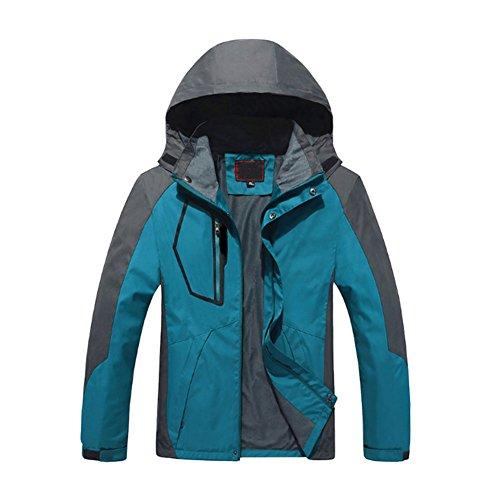 Meijunter pour des Hommes Encapuchonné Ski Porter Vestes Coupe-Vent Imperméable Chaud Snowboard Combinaison de Ski Manteau