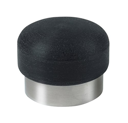 Gedotec Türpuffer Edelstahl Türstopper NEMO Gummi-Puffer für Boden-Montage | Tiefe: 35 mm | 25 mm Gummiauflage | Puffer inkl. Befestigungsmaterial | MADE IN GERMANY | 1 Stück