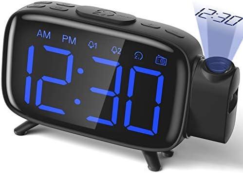 Projection Alarm Clock Radio Alarm Clock Digital Clock with Power Adapter Alarm Clocks for Bedrooms product image