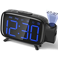 【180° Projection】: adjustable focus; 180 flip; Projection range: 4-12 feet. 【Radio】: automatic and manual scan the radio, you can save up to 60 channels; The radio also has a sleep timer function to make you feel at ease. 【Snooze Function and Alarm F...