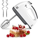 【7 SPEED OPTIONS】 -- With a 110W motors and 7 different speeds to help you whisk, whip egg whites, cake batter, cookie dough, whip cream and more at the touch of a button. 【PERFECT KITCHEN ACCESSORY】 -- The perfect assistant for making desserts, cake...