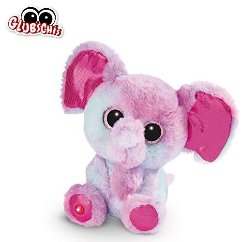 NICI Glubschis: het origineel – Glubschis olifant Samuli 15 cm – knuffeldier olifant met grote ogen – pluizig pluche dier met grote glitterogen – knuffeldier voor knuffeldierliefhebbers – 45556