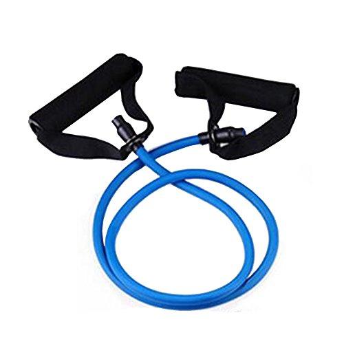 Toweter Pilates Fitness-Tube Elastica di Resistenza per Fitness con Maniglie (Blu)