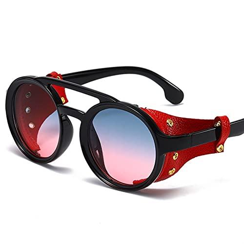 ZHATAOZH Nuevos Gafas de Sol Punk Hombres y Mujeres Diseño de Marca Retro Gafas de Sol Redonda Gafas de Sol de Moda UV400 Gafas Gafas de Sol polarizadas Hombres Frescos para Mujer Deportes