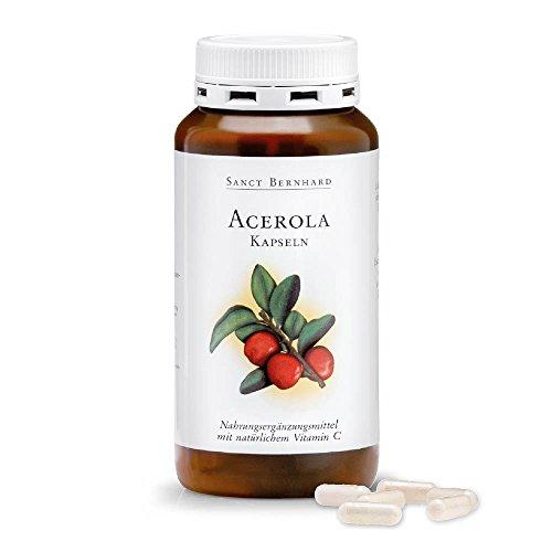 Acerola - Cápsulas con natural Vitamina C, Acerolafrucht polvo 300 Cápsulas