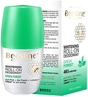Beesline Whitening Roll-On Deodorant, Green Forest