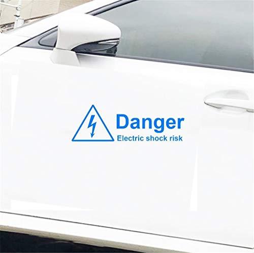 Pegatinas Coche Tuning Advertencia Peligro Choque eléctrico Riesgo Etiqueta engomada del coche...