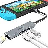 カエル USB Type C ハブ 6-in-1 USB C ハブ NintendoSwitch 変換アダプター 任天堂スイッチ usb type c 変換アダプター SD/TFカードリーダー USB HDMI 4K解像度 USB 3.0&USB 2.0高速転送 急速充電熱対策 映像変換 NintendoSwitch/OTG/Huawei Mate10/Mate20/Samsung S8/Samsung S9/APPLE /Xiaomi/ASUS/DELL/GOOGLEなど対応