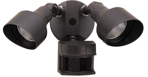 Heath Zenith HZ-5597-BZ 200-Watt Quartz Halogen Motion-Sensing Twin Security Light, Bronze