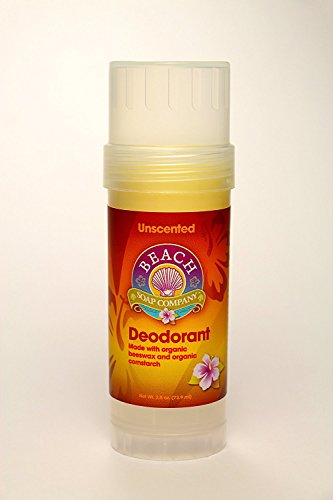 Unscented Certified Organic Deodorant - Aluminum, Talc, and Paraben Free. Made and Sold by Beach Organics. 2.5 oz.