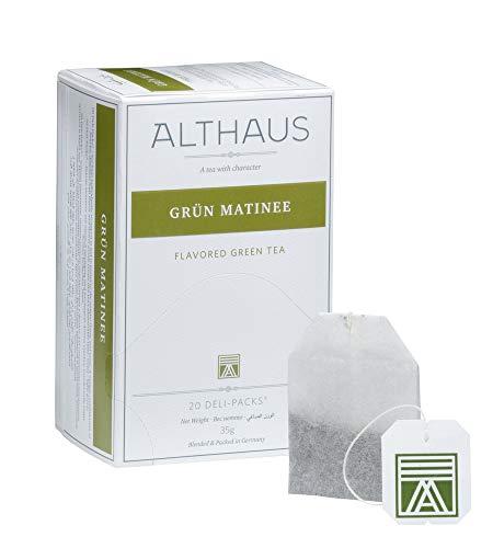 Althaus Deli Pack Grün Matinee 20 x 1,75g ⋅ Grüner Tee im klassischen Teeaufgussbeutel