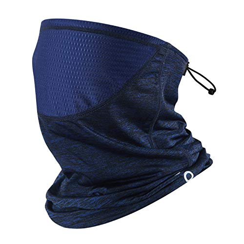 Polma Cooling Neck Gaiter Face Mask Breathable Lightweight Dust UV Sun Protection Bandanas for Men Outdoors