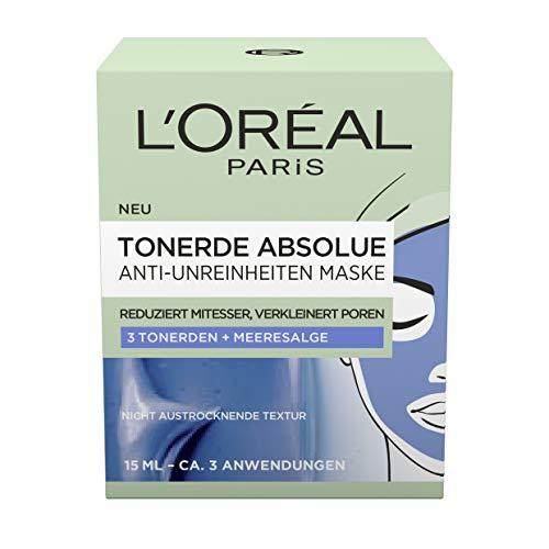 L'Oréal Paris Tonerde Absolue Anti-Unreinheiten Maske, 2er Pack(2 x 15 ml)