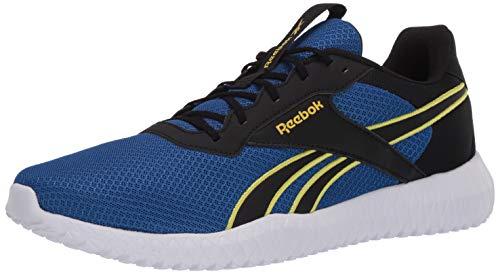 Reebok Men's FLEXAGON Energy TR 2.0 Cross Trainer, Black/Humble Blue/Hero Yellow, 12 M US